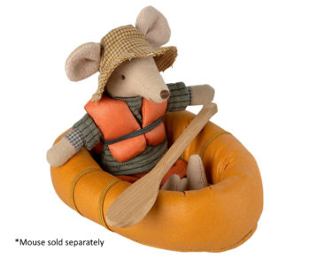 Rubber Boat Mouse Dusty Yellow Little French Heart