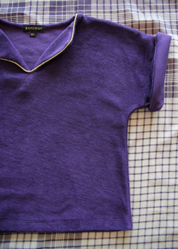 Bonjour Diary Purple Terry Top