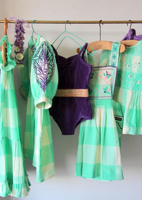 Bonjour Diary Disco Swimsuit Purple Terry