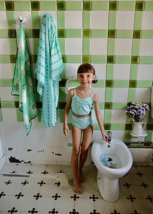 Bonjour Diary Disco Swimsuit Aqua Terry