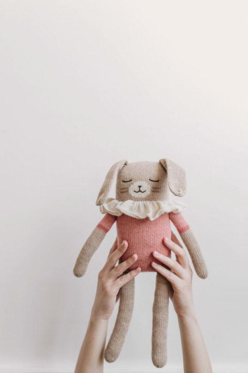 Main Sauvage Big Bunny Soft Toy Rose Bodysuit