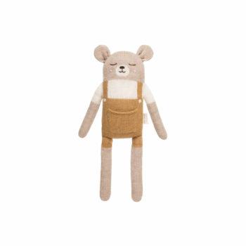 Main Sauvage Big Teddy Soft Toy Mustard