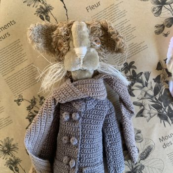 Sophie Digard Lion in Winter Overcoat with Scarf
