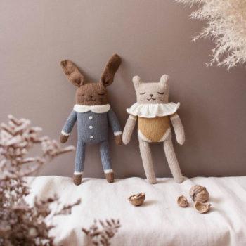 Main Sauvage Bunny Knit Toy Slate Jumpsuit