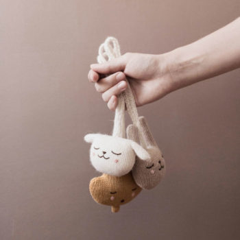 Main Sauvage Baby Gym Toy Lamb