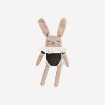 Main Sauvage Bunny Knit Toy Black Bodysuit