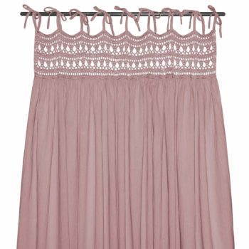 Numero 74 Tara Curtain Dusty Pink Little French Heart 2