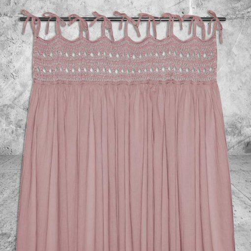 Numero 74 Tara Curtain Dusty Pink Little French Heart