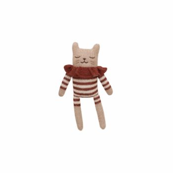 Main Sauvage Kitten Knit Toy Sienna Striped Romper
