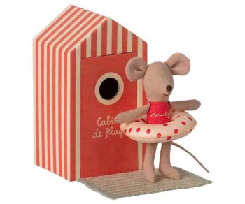 Maileg Beach Mouse Little Sister in Cabin