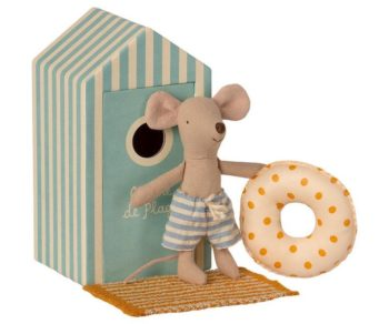 Maileg Beach Mouse Little Brother in Cabin