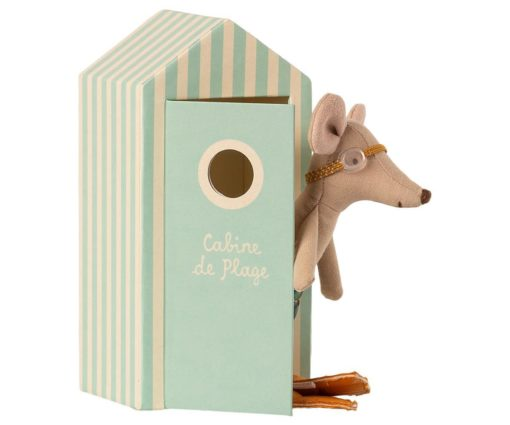 Maileg Beach Mouse Big Brother in Cabin