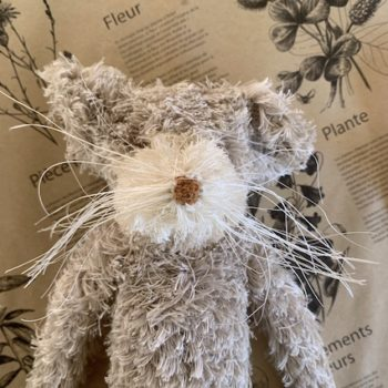 Sophie Digard Fuzzy Mouse In Cream