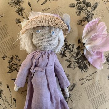 Sophie Digard Lady Doll in Sun Hat Lavender