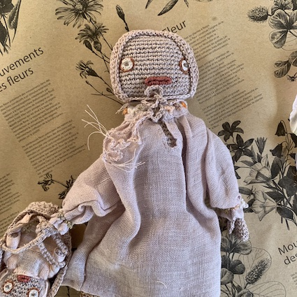 Sophie Digard Mother and Bebe Knit Doll Rose
