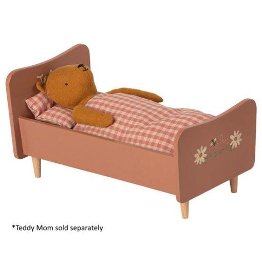 Maileg-Wooden-Rose-Teddy-Mum-Bed-Little-French-Heart