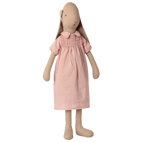 Maileg Bunny Size 4 in Dress Rose
