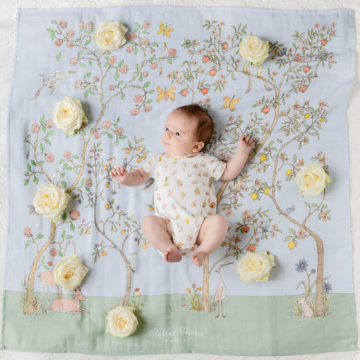 Atelier-Choux-In-Bloom-Blue-Baby Wrap #LittleFrenchHeart