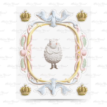 Atelier Choux Wall Sticker Sheep #littlefrenchheart