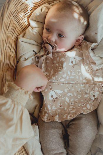Mrs Mighetto Baby Bib Birthday Bunny #Littlefrenchheart
