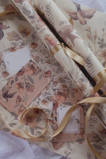Mrs Mighetto Flowers Wrapping Paper