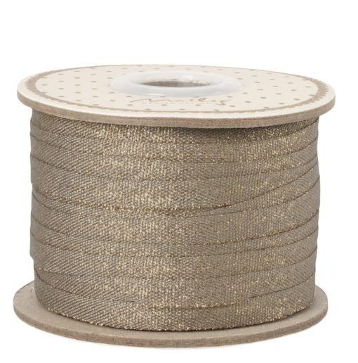 Maileg Ribbon 25m Stone-Gold