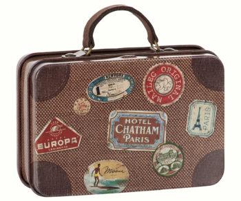 Maileg Brown Suitcase - Paris