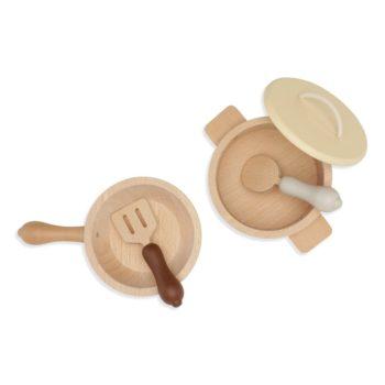 Kongessloejd Wooden Pots & Pans Set