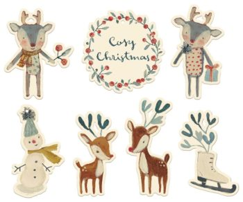 Maileg Cosy Gift Tags Off White