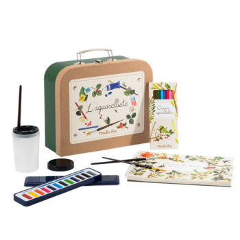 Moulin-Roty-Le Jardin Watercolour-Artist-case-#Littlefrenchheart