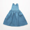 Nellie Quats Conkers Pinafore Cornflower Blue Linen #littlefrenchheart
