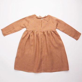 Nellie Quats Hopscotch dress Rose Caramel check #littlefrenchheart