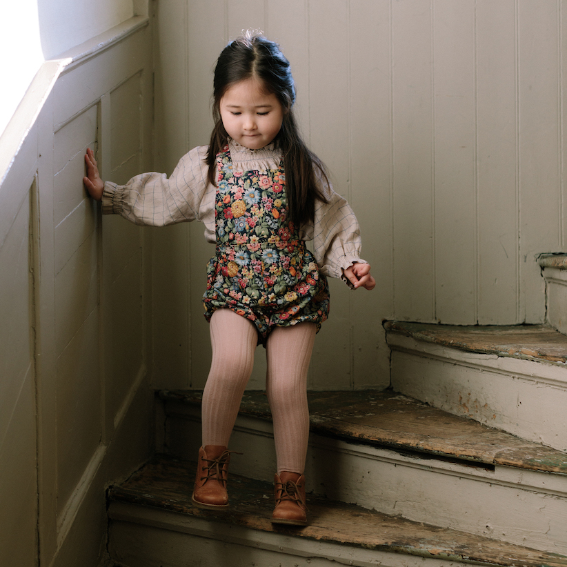 Jump Rope Romper Heirloom Liberty Print #littlefrenchheart