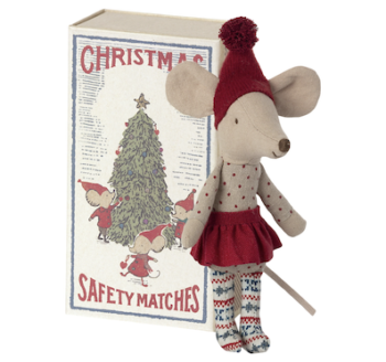 Maileg Christmas Mouse In Box Big Sister (Pre order End Oct)