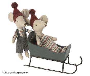 Maileg Sleigh Mouse (Preorder End Oct)