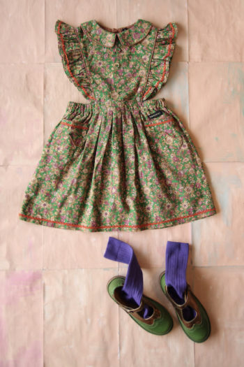 Bonjour Diary Apron Dress Small Flowers #Littlefrenchheart