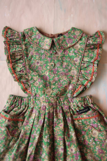 Bonjour Diary Apron Dress Small Flowers #Littlefrenchheart2