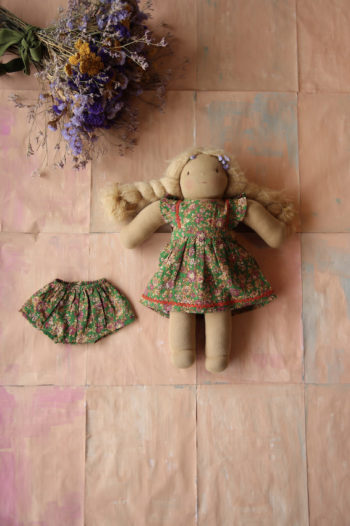 Bonjour Diary Dolls Apron Dress Small Flowers #Littlefrenchheart