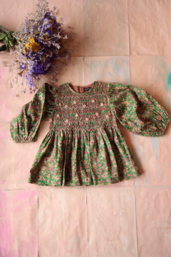 Bonjour Diary Handsmock Blouse Small Flowers #Littlefrenchheart