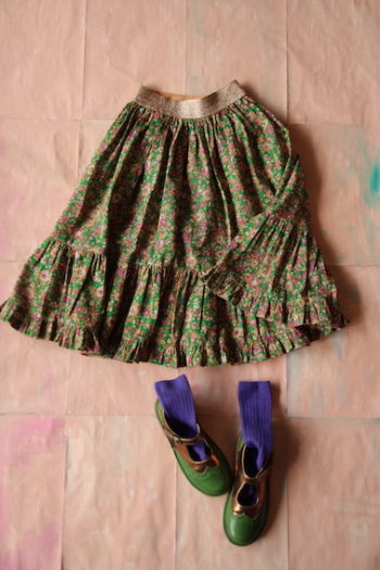 Bonjour Diary Long Skirt Small Flowers #Littlefrenchheart