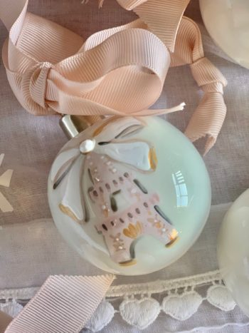Paris Christmas Baubles Blush #Littlefrenchheart