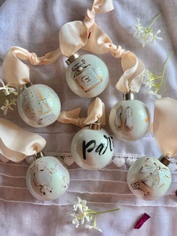 Paris Christmas Baubles #Littlefrenchheart